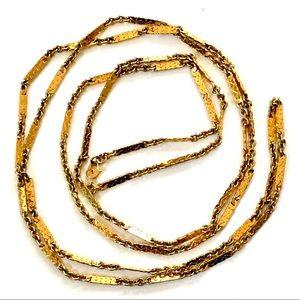 MONET Vintage Gold Chain Necklace